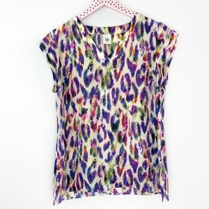 Cabi Plume Top 5027 Multicolored Patterned Blouse